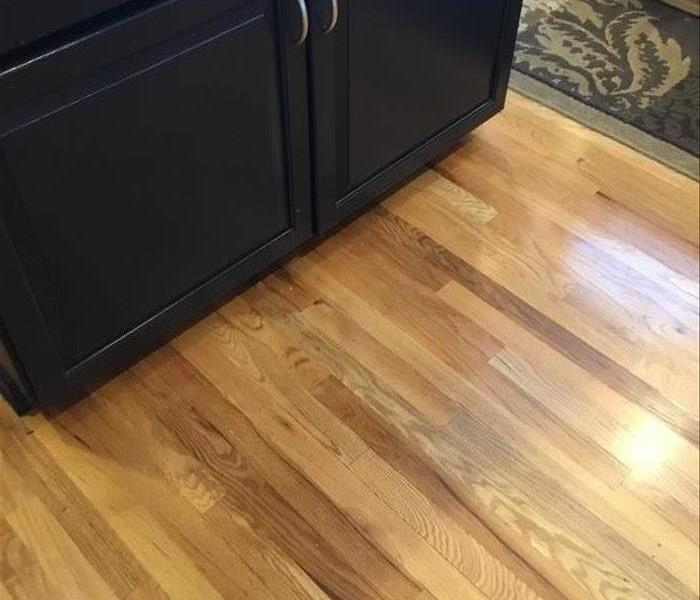 Water Damage to Kitchen Wood Floors After
